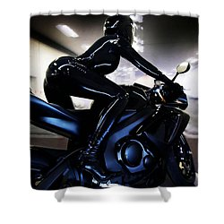 Shower Curtain featuring the photograph The Dark Knight by Lawrence Christopher
