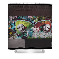 Shower Curtain featuring the photograph The Dark Side -  Graffiti by Colleen Kammerer