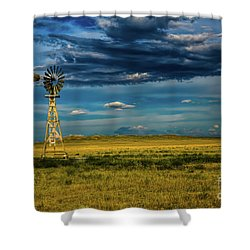 The Dark Wind Shower Curtain