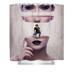 The Dating Scene Shower Curtain