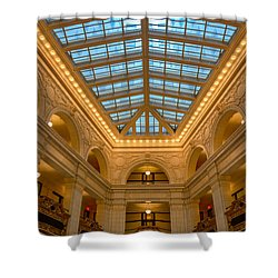 The David Whitney Building Shower Curtain