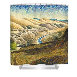 The Dearborn River Shower Curtain by Dale Beckman