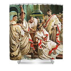 The Death Of Julius Caesar  Shower Curtain by C L Doughty