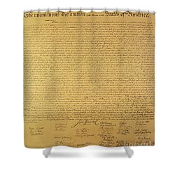 The Declaration Of Independence Shower Curtain by Founding Fathers