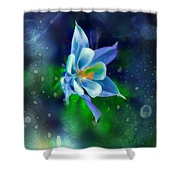 The Deep Blue Shower Curtain by Colleen Taylor