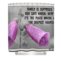 The Deepest Heartache Shower Curtain