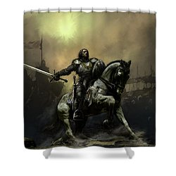 The Defiant Shower Curtain by David Willicome