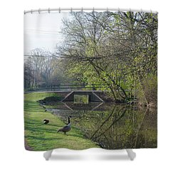 The Delaware Canal - Morrisville Pennsylvania Shower Curtain by Bill Cannon