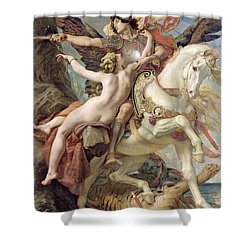 The Deliverance Shower Curtain by Joseph Paul Blanc