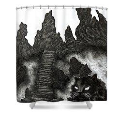 The Demon Cat Shower Curtain