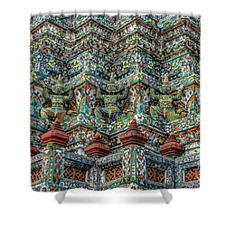 The Demons Of The Temple Shower Curtain