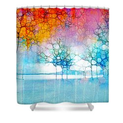 The Departing Trees Shower Curtain