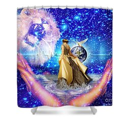 The Depth Of Gods Love Shower Curtain by Dolores Develde