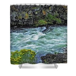 The Deschutes River At Dillon Falls Shower Curtain