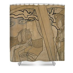The Desire And The Satisfaction Shower Curtain by Jan Theodore Toorop