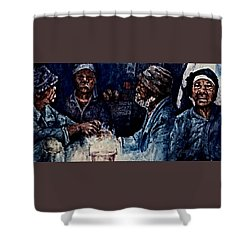 The  Desolation Of Poverty Shower Curtain by Hartmut Jager