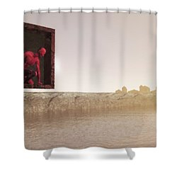 The Destroyer Cometh Shower Curtain