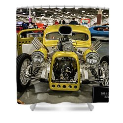 The Devils Beast Shower Curtain by Randy Scherkenbach