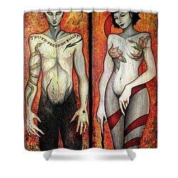 The Devils Shower Curtain by Dori Hartley