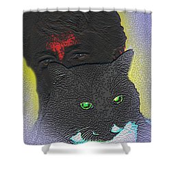 The Devils Mask Shower Curtain