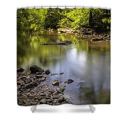Shower Curtain featuring the photograph The Devon River by Jeremy Lavender Photography