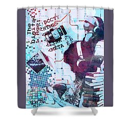 The Digital Age Shower Curtain