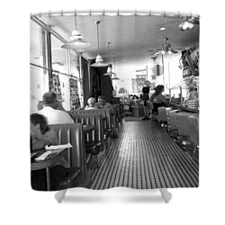 The Diner Shower Curtain by Wayne Potrafka