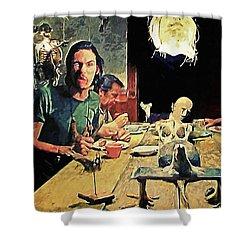 The Dinner Scene - Texas Chainsaw Shower Curtain
