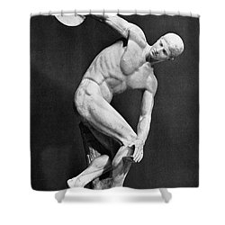 The Discobolus, 450.b.c Shower Curtain by Granger