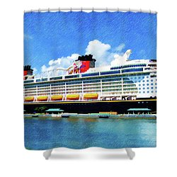 The Disney Dream In Nassau Shower Curtain