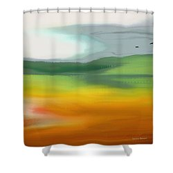 The Distant Hills Shower Curtain