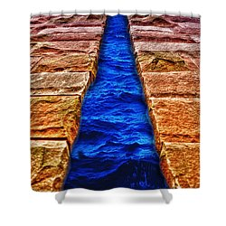 Shower Curtain featuring the photograph The Divide by Paul Wear