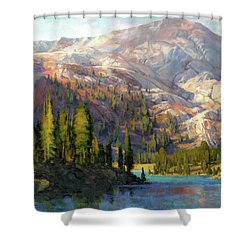 Shower Curtain featuring the painting The Divide by Steve Henderson