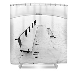 The Dock 1 Shower Curtain by Jouko Lehto