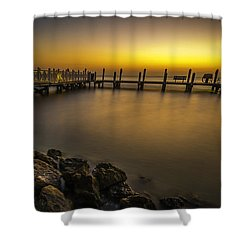 Captiva Sunrise Shower Curtain