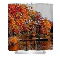 The Dock Shower Curtain by Rick Friedle