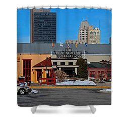 Shower Curtain featuring the photograph The Docks by Michiale Schneider