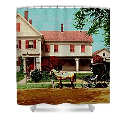 The Doctor Heads Out On A House Call Shower Curtain