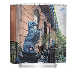 The Dogs On West Tenth Street, New York, Ny  Shower Curtain