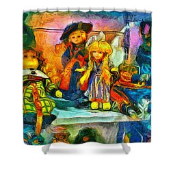 The Dolls Shower Curtain