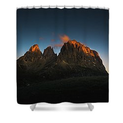 The Dolomites, Italy Shower Curtain by Happy Home Artistry
