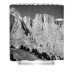 The Dolomites Shower Curtain by Juergen Weiss
