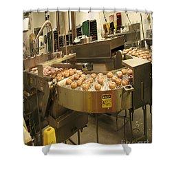 The Doughnut Machine Shower Curtain by Carol F Austin