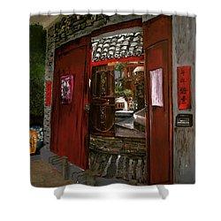 The Red Door Shower Curtain