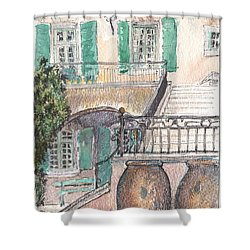 The Dora Maar Residency Shower Curtain