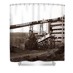 The Dorrance Coal Breaker Wilkes Barre Pennsylvania 1983 Shower Curtain