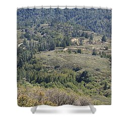 The Double Bow Knot On Mount Tamalpais Shower Curtain by Ben Upham III