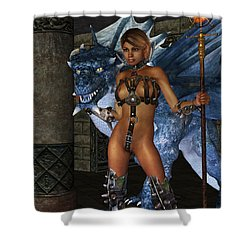 The Dragon Princess Shower Curtain by Alexander Butler