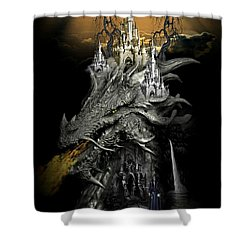 The Dragons Castle Shower Curtain by Ali Oppy