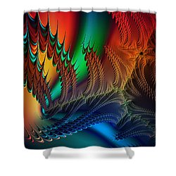 The Dragon's Den Shower Curtain by Kathy Kelly